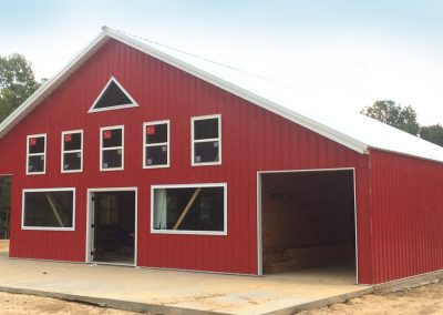 Photo of red barn